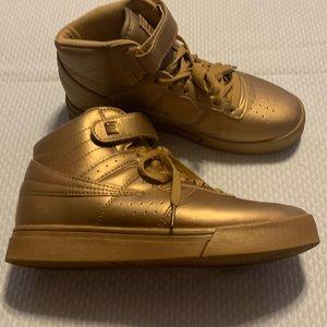 Fila high top sneakers.
